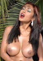 Priya Rai banging her pussy with an enormous dildo
